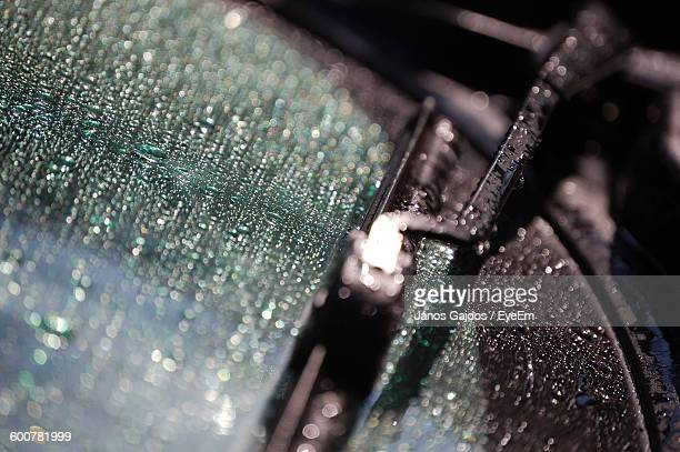 Cropped Image Of Car Windshield Wiper