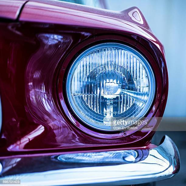 Cropped Image Of Car With Headlight