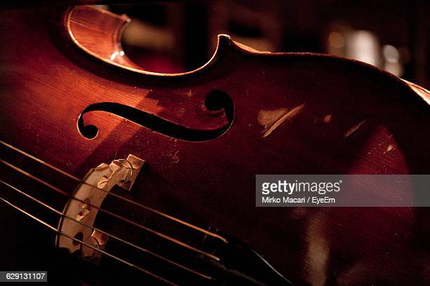 Cropped Image Of Double Bass