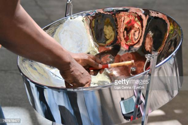 cropped image of man with solar cooker - liga cerina stock pictures, royalty-free photos & images