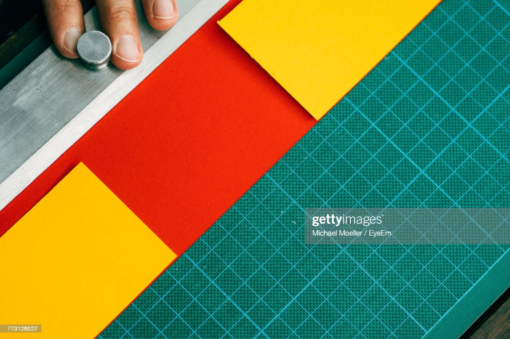 Cropped Image Of Man Working At Table : Photo