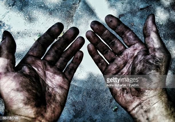 Cropped Image Of Messy Hands