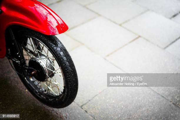 Cropped Image Of Moped Tire
