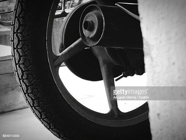 Cropped Image Of Motorcycle Tire