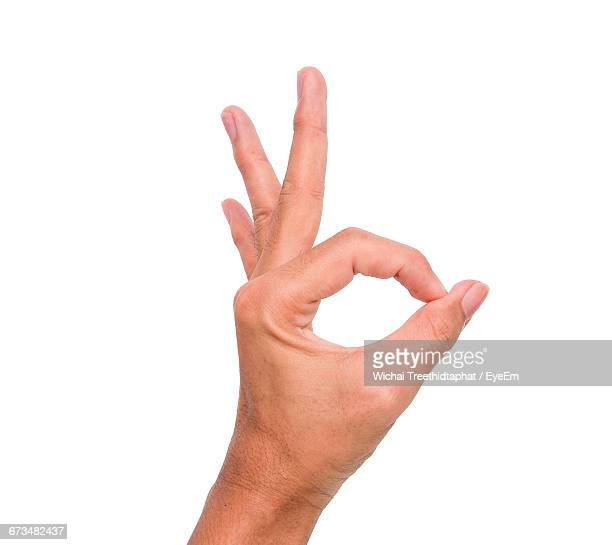 Ok Sign Stock Photos And Pictures Getty Images