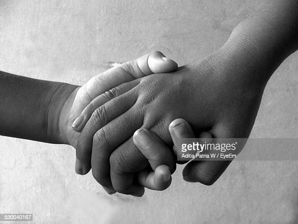 Cropped Image Of Siblings Holding Hands