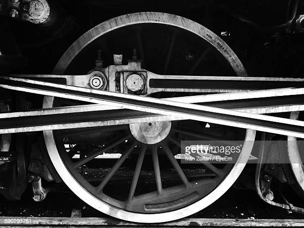 cropped image of train on railroad track - iván zoltán stock pictures, royalty-free photos & images