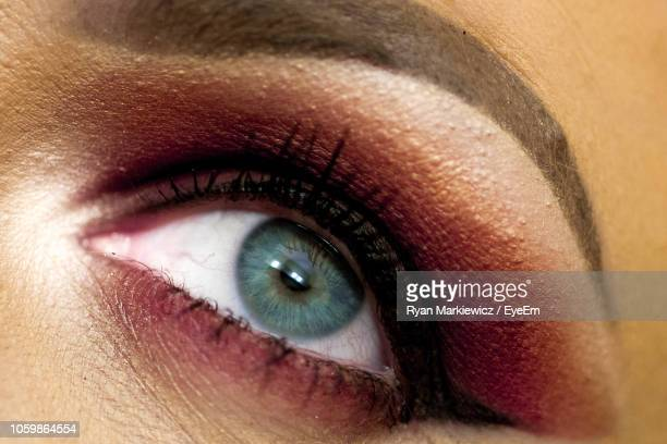 Cropped Image Of Woman Eye With Eyeshadow