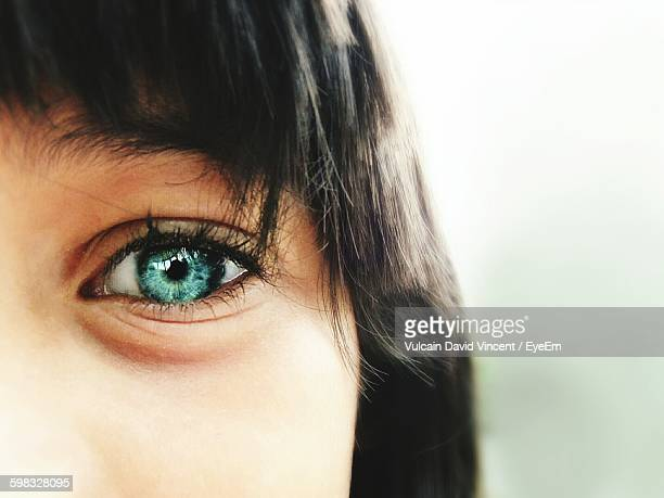 cropped image of woman - green eyes stock pictures, royalty-free photos & images