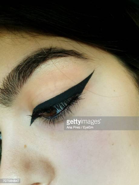 Cropped Image Of Woman With Eyeliner