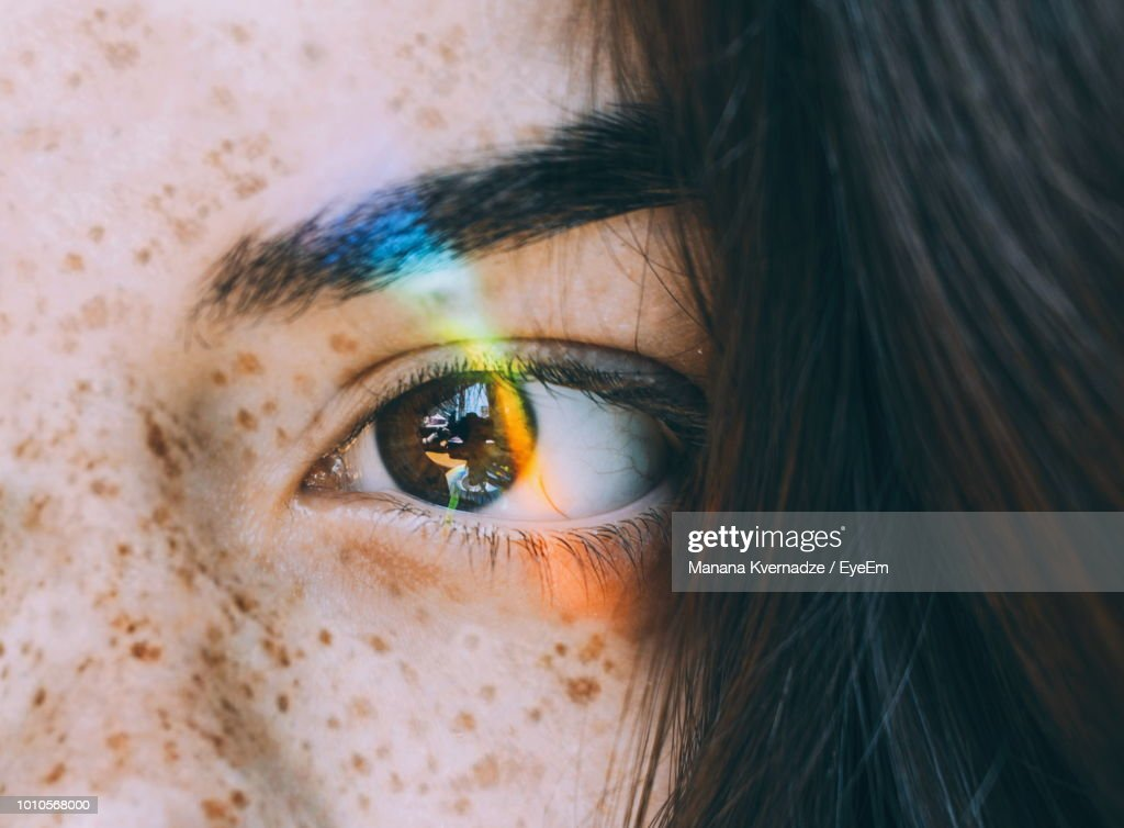Cropped Image Of Young Woman Eye : Stock Photo