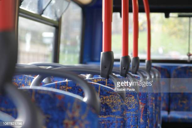 cropped shot of empty seats on a public bus - ロージアン ストックフォトと画像