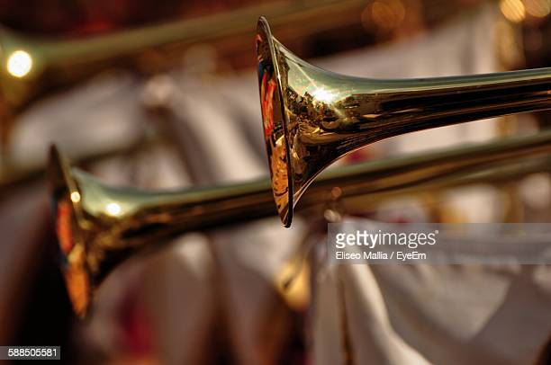 Cropped Shot Of Wind Instruments