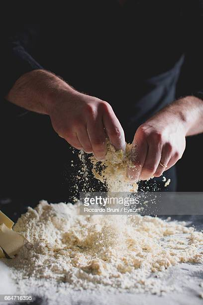 Cropped View Of ChefS Hands Kneading Pastry