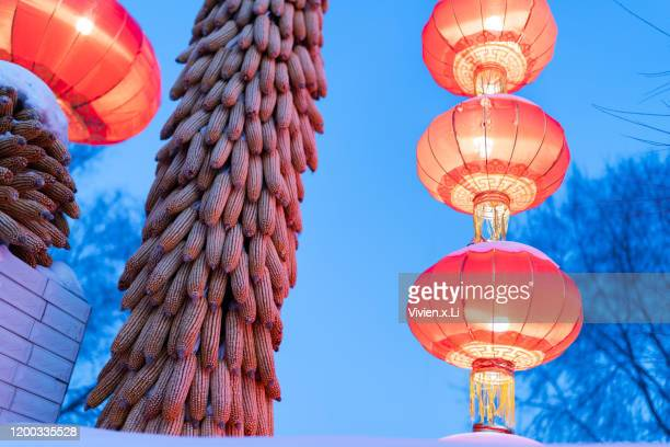 crops and new year sign in china - harvest icon stock pictures, royalty-free photos & images