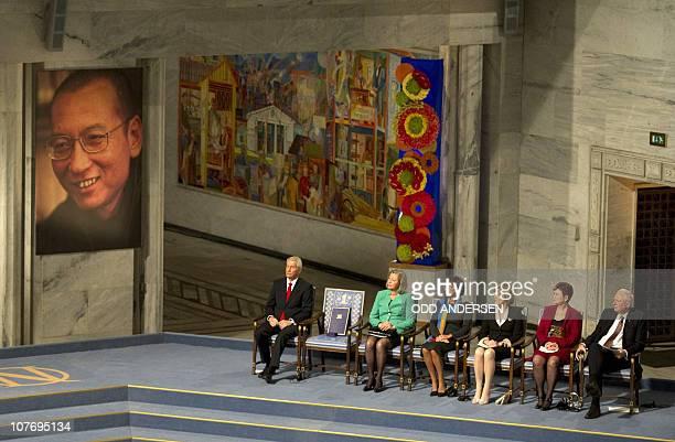 CROPThe Nobel Peace Prize committee Committee chairman Thorbjoern Jagland Kaci Kullmann Five Sissel Marie Roenbeck IngerMarie Ytterhorn Aagot Valle...