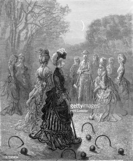 Croquet' 1872 Croquet was an amusement of fashionable London society during the Victorian era From LONDON A Pilgrimage by Gustave Dore and Blanchard...