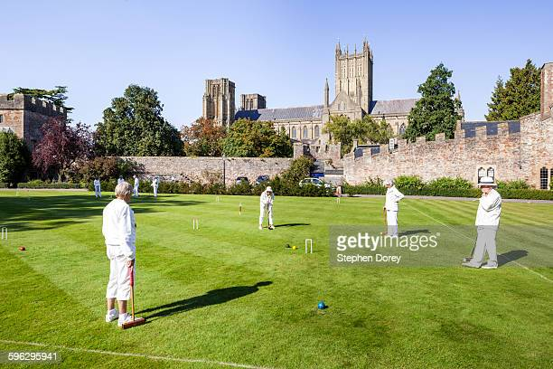 Croquet at the Bishops Palace, Wells, Somerset UK