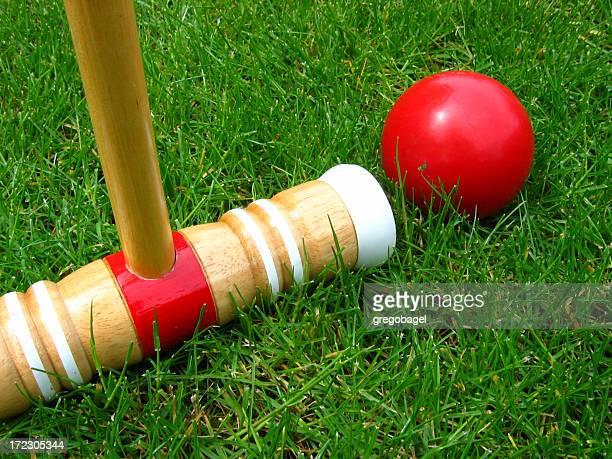 Croquet on the grass
