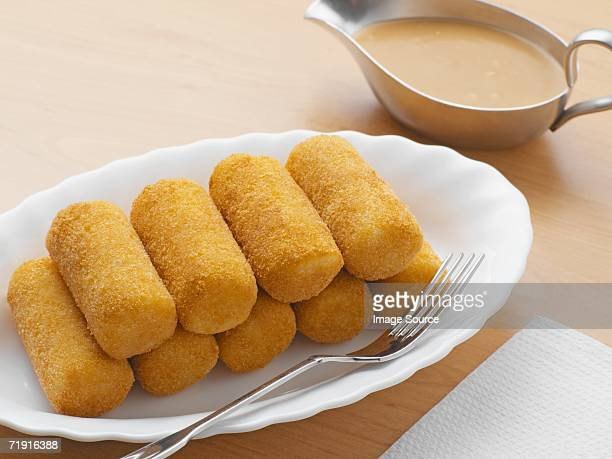 Croquettes and gravy