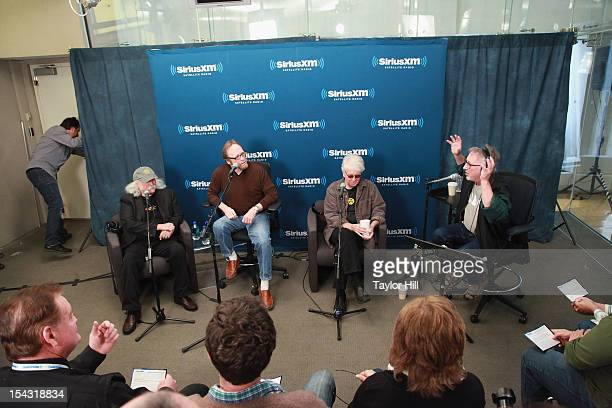 """Crosby, Stills, and Nash are interviewed by DJ Earle Bailey for the """"SiriusXM Crosby, Stills And Nash Town Hall"""" Live On Classic Vinyl at SiriusXM..."""