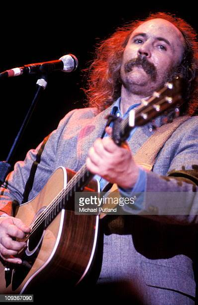 Crosby Stills And Nash perform on stage London August 1983 David Crosby