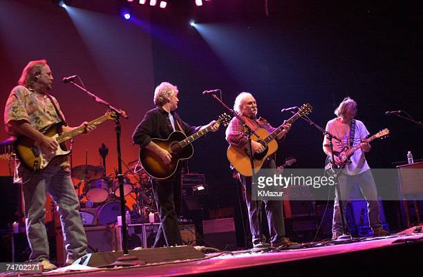 Crosby Stills Nash and Young during Crosby Stills Nash and Young MSG Concert at the Madison Square Garden in Los Angeles CA