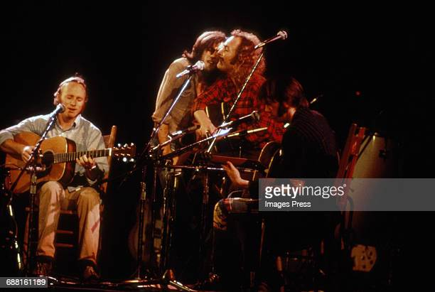 Crosby Stills Nash and Young in concert circa 1985 in New York City