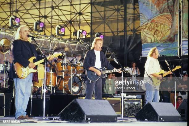 Crosby, Stills & Nash performs at Woodstock 94, Saugerties, New York, August 13, 1994.
