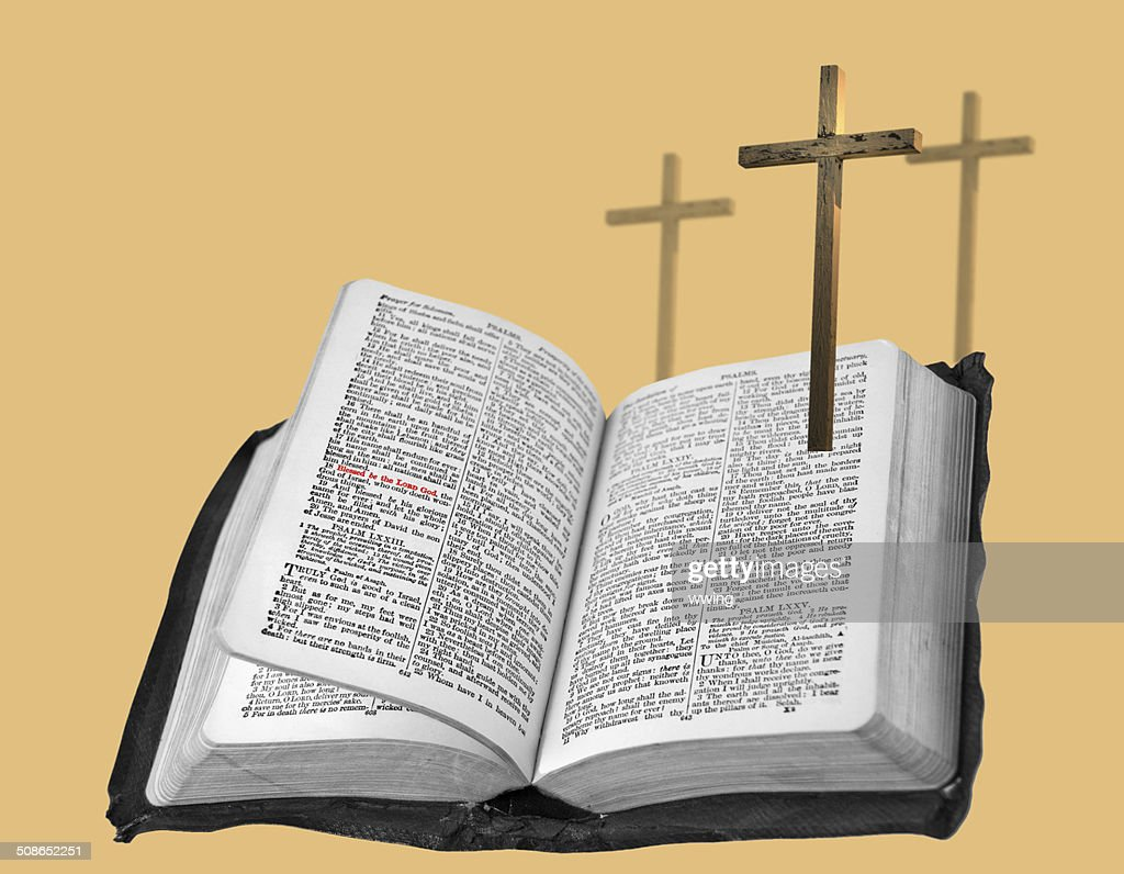 Cross and Bible : Stock Photo