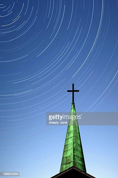 XL cross and steeple with stars