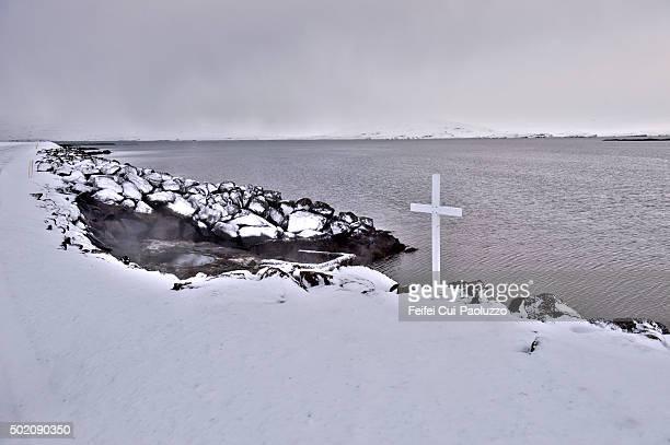 A cross at Drangsnes Westfjords Iceland