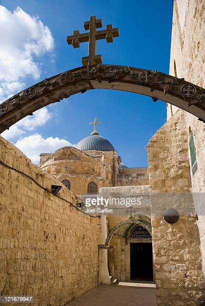 church of the holy sepulchre in jerusalem - stations of the cross stock pictures, royalty-free photos & images