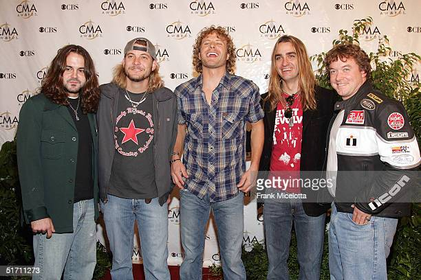 Cross Canadian Ragweed arrive at the 38th Annual CMA Awards at the Grand Ole Opry House November 9 2004 in Nashville Tennessee