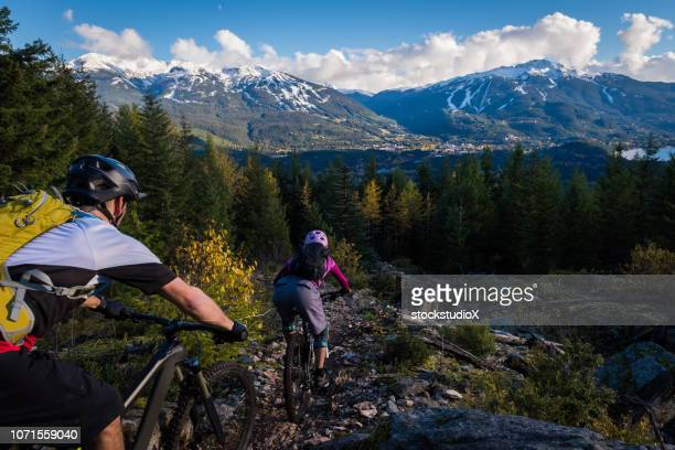 cross country mountain biking - whistler british columbia stock pictures, royalty-free photos & images