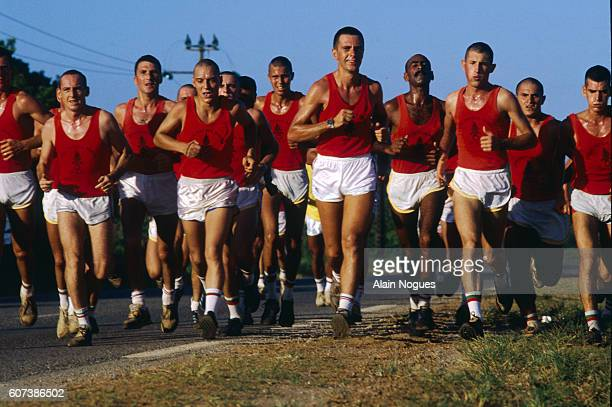 Cross Country Running by Legionnaires in the European Spaceport Kourou
