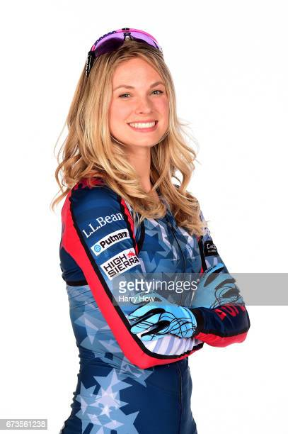 Cross country skier Jessie Diggins poses for a portrait during the Team USA PyeongChang 2018 Winter Olympics portraits on April 26 2017 in West...