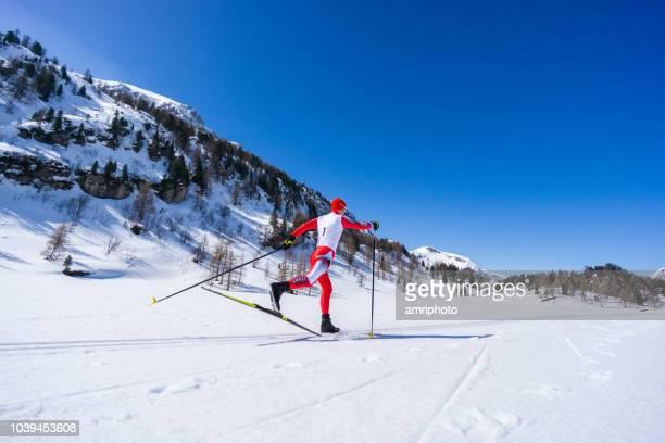 冬山を駆るクロスカントリー スキーヤー北欧 skking クラシック