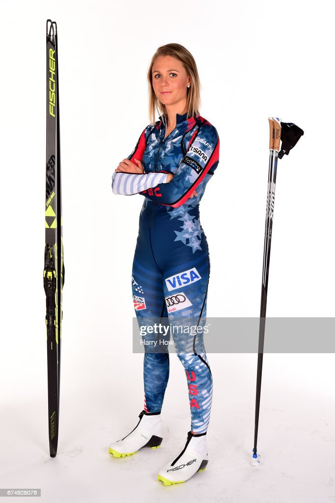 Stina Nilsson (C, 1st) of Sweden poses with second placed ...