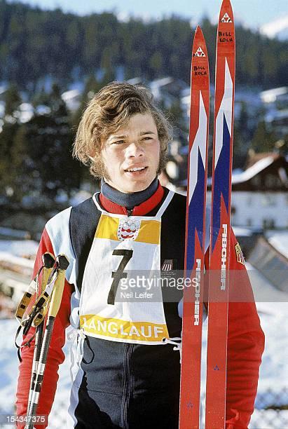 1976 Winter Olympics Portrait of USA Bill Koch after winning Men's 30K Nordic Skiing silver in Tirol Seefeld Austria 2/5/1976 CREDIT Neil Leifer