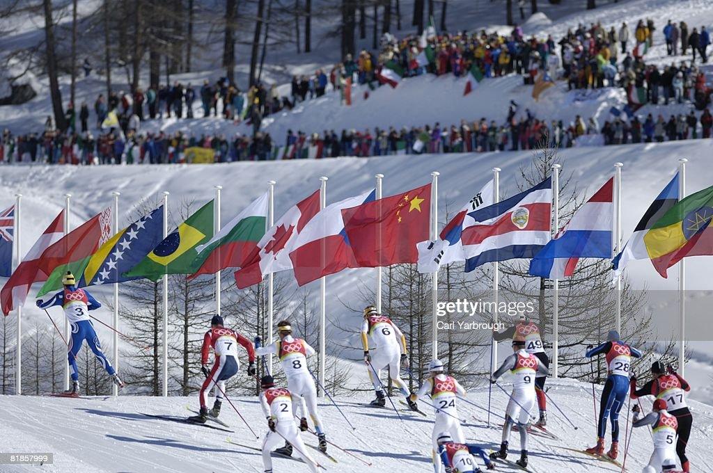2006 Winter Olympics Rear View Of Italy Giorgio Di Centa 10 In Action