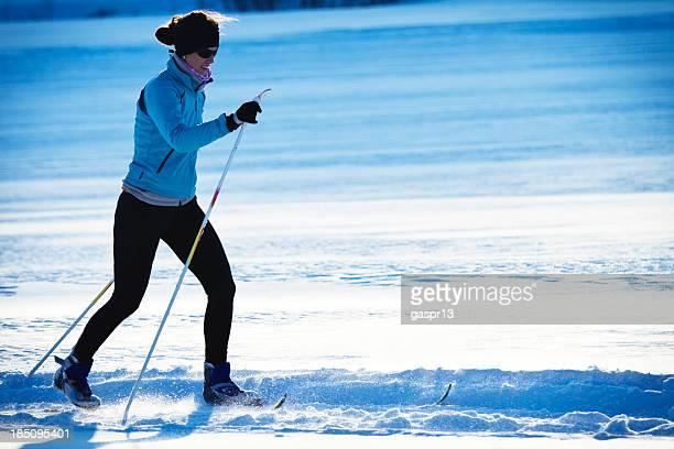 cross country skiing-klassischen Stil