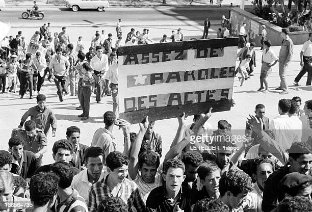 Cross Demonstrations In Algeria On The Algiers' Forum For The 'Wilaya Iv' Military Power And For The Civil Power Of The Political Bureau En Algérie...