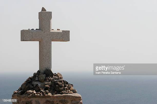 Cross front of sea