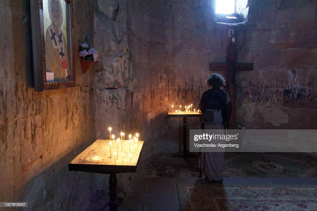 Cross in Jvari Church, Mtskheta : Stock Photo