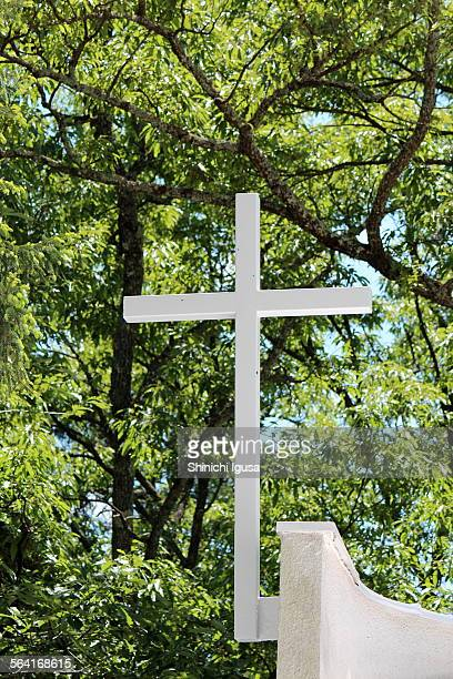 Cross in the forest