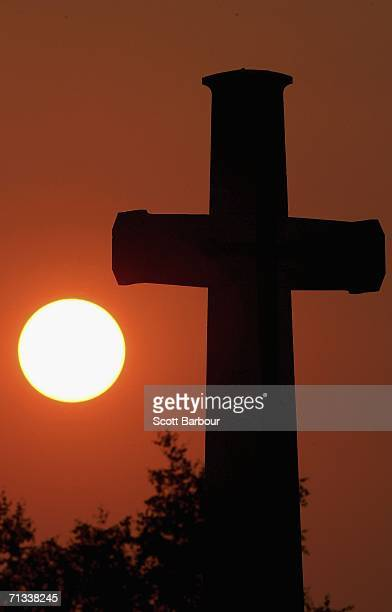 A cross marks the grave of an unknown soldier killed in the Battle of Somme at the Thiepval Memorial and AngloFrench cemetery as the 90th anniversary...