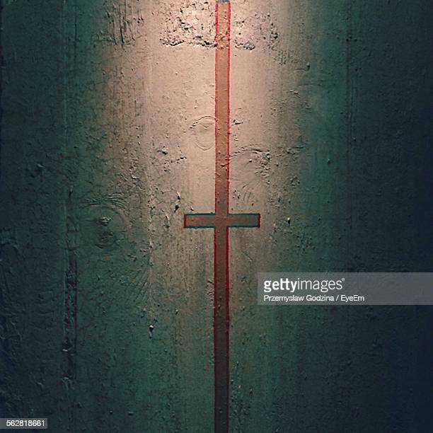 Cross Painted On Wall