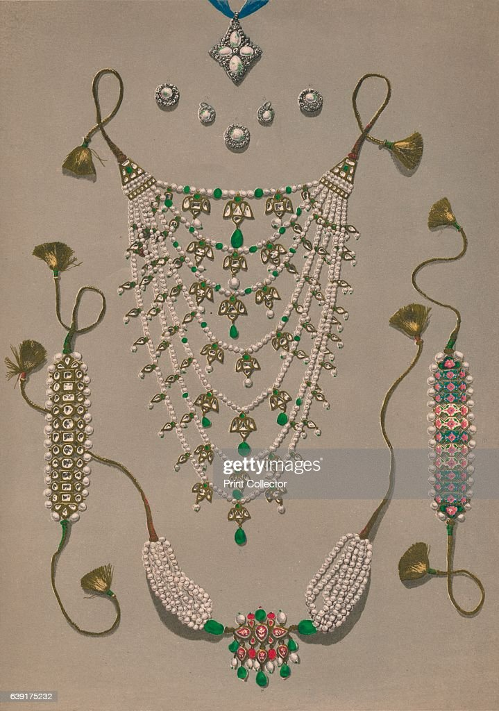 Cross Pendant Brooches & Earrings Suite Of Indian Ornaments 1863 : News Photo