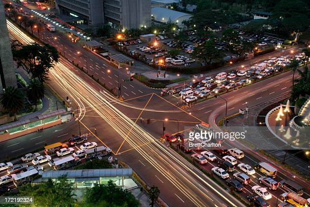 cross roads - manila - manila philippines stock pictures, royalty-free photos & images